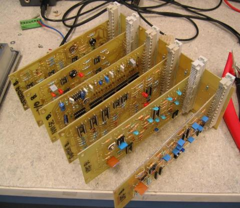 Backplane with boards attached