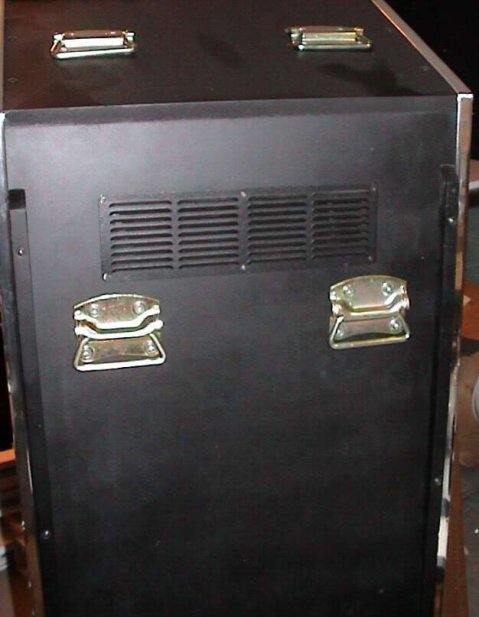 MAME cabinet, transport handles & upper vent grille