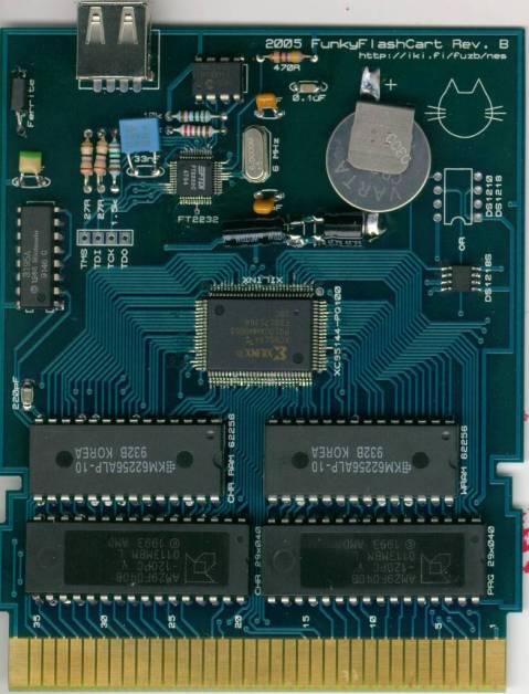 Funky Flash Cart, PCB assembled