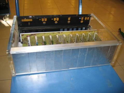 Elektor Vocoder, soldered bezels, front view
