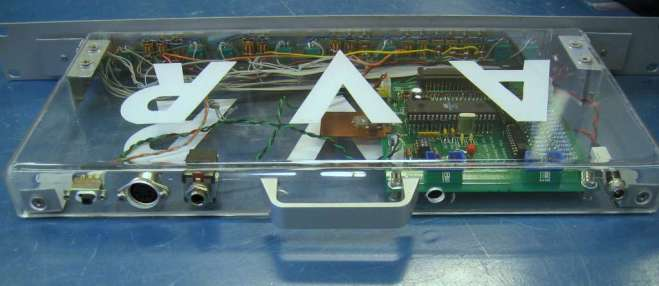 AVR Synth, rear view of completed unit