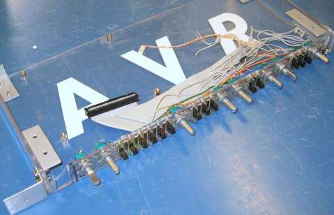 AVR Synth, lower half of the casing