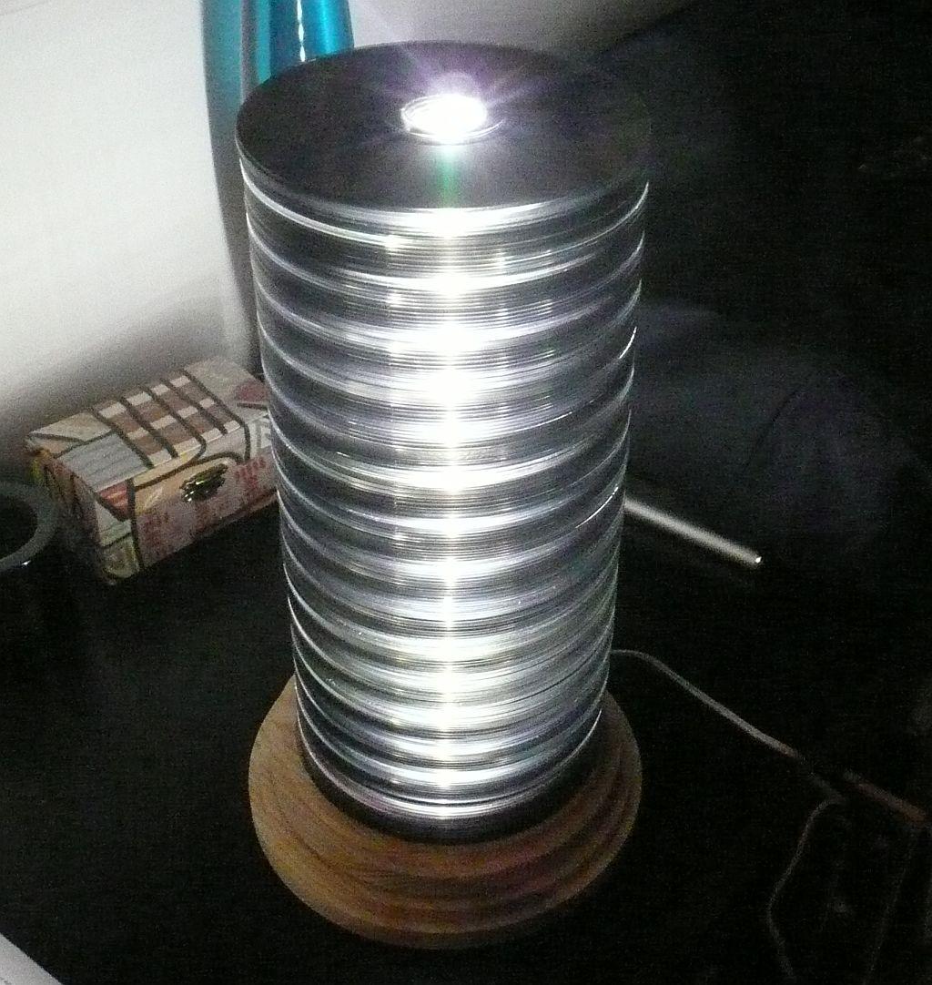cd stack lamp my diy blog
