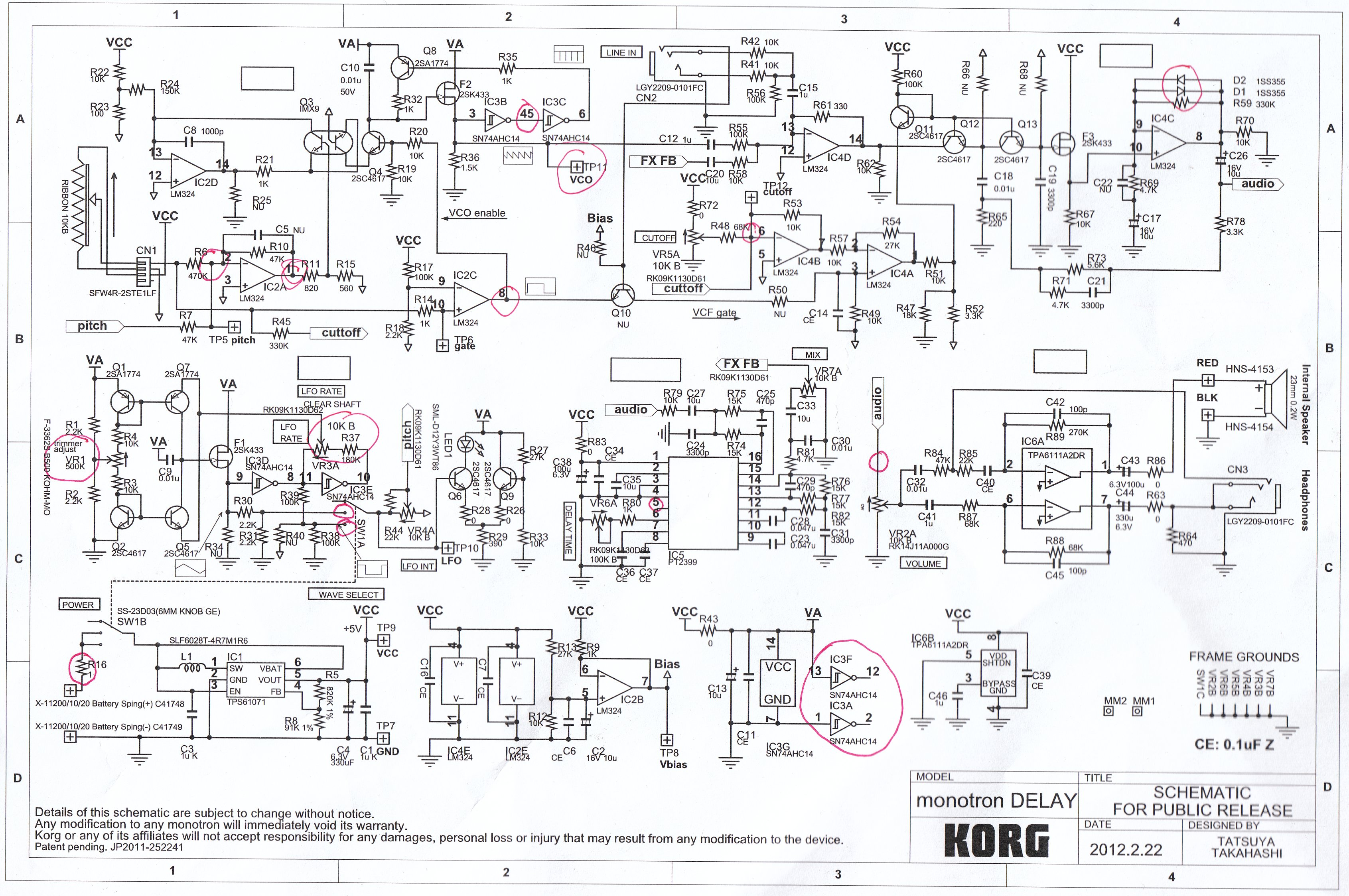 korg monotron delay 100 wet mod gearslutz pro audio community rh gearslutz com Basic Electrical Schematic Diagrams Basic Electrical Wiring Diagrams