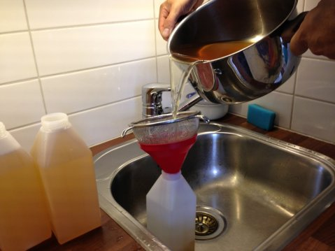 Bottle up sifting for any smaller particles.
