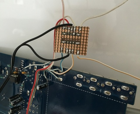 The solder side of CV/Gate buffer board version 1