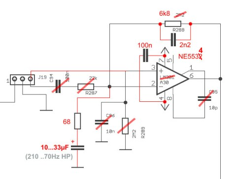 TTSH reverb driver mod schematic by Nordcore.