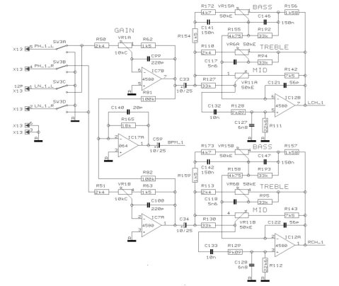 Single channel preamp / EQ section of VMX200